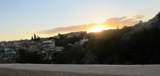 Dar Roumana: Watching the sunset from the terrace