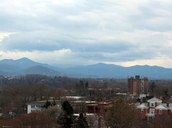 Aloft Asheville Downtown : Mountain view from the room