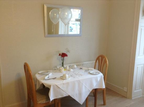 The Alendale Guest House: Our breakfast table 2nd-7th December 2013