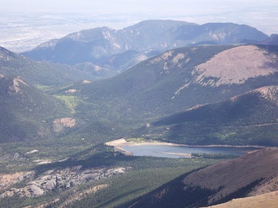 Pikes Peak - America's Mountain: View from the top of Pikes