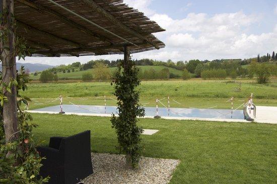 Agriturismo Siena Rinidia Bio: Вид на бассейн