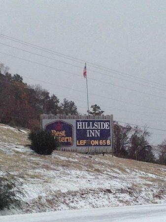 Best Western Hillside Inn: Bottom of the hill view