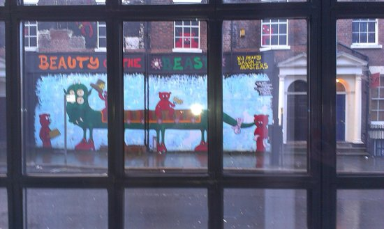 The Nadler Liverpool: The view of the fun mural from my window.