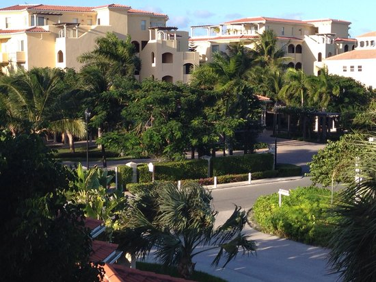 Villa del Mar: View from room C302 looking out at road and Grace Bay Resort, 2 min walk to beach.