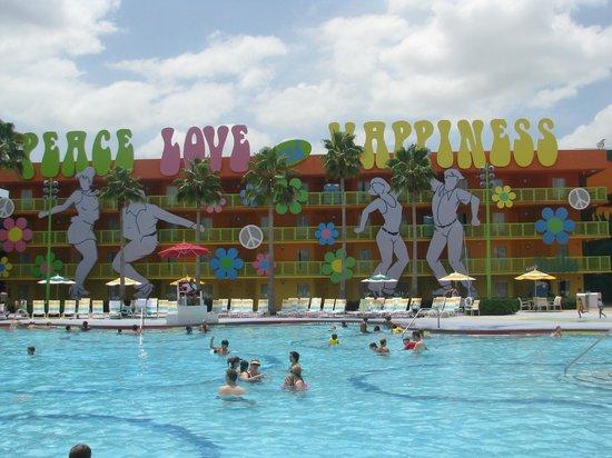 Disney's Pop Century Resort: by pool area