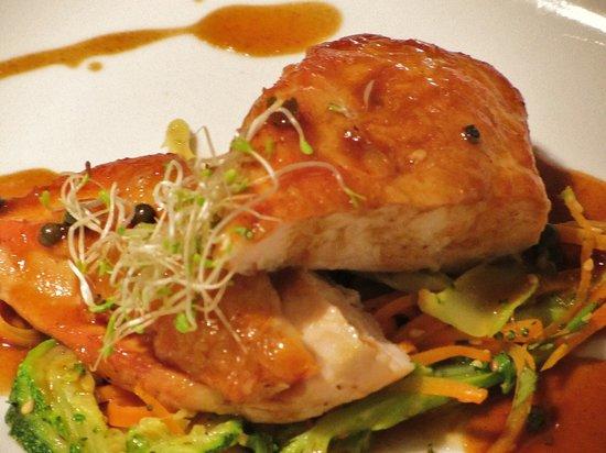 Les Alisiers Hotel-Restaurant : блюдо