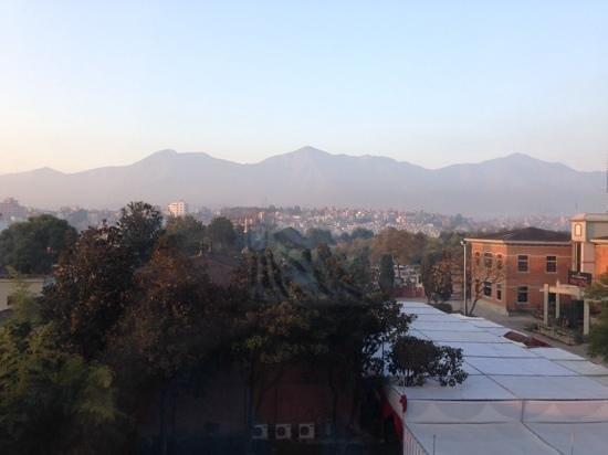Crowne Plaza Kathmandu-Soaltee: view from my king bed exec room