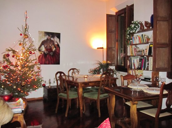 Gourmet Giglio Bianco B&B: The lovely living room overlook the Boboli Gardens