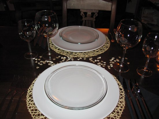 Gourmet Giglio Bianco B&B: Our placesetting during a fantastic dinner!