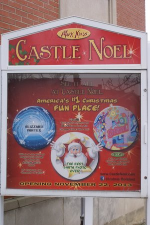 Castle Noel: The sign outside
