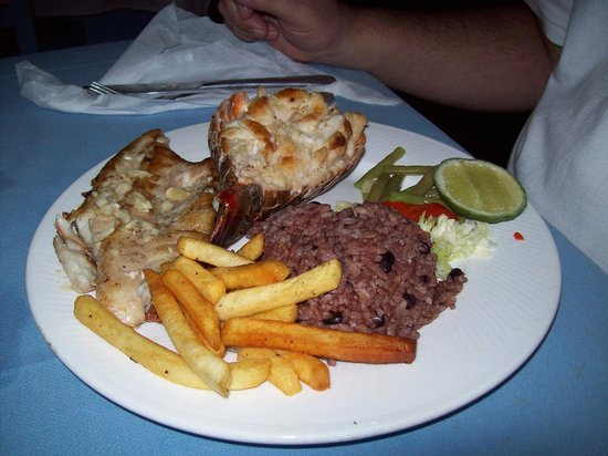 El Caney: My Meal Fish and Lobster