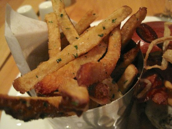 Pine: Fries with Burger, delicious