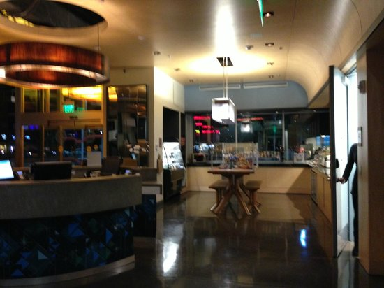 "Aloft Tempe: Lobby area with ""grab and go"" food."