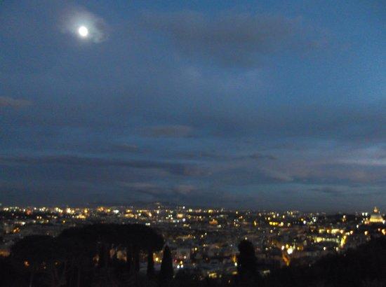 Rome Cavalieri, Waldorf Astoria Hotels & Resorts: Evening From the Balcony