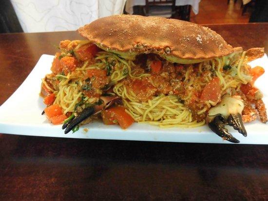 La Casita: Pasta fresca con buey de mar