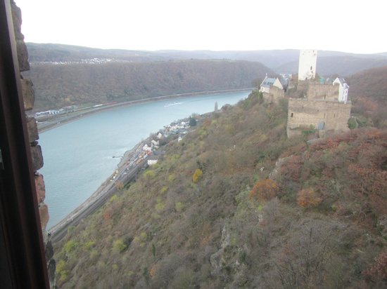 Hotel Burg Liebenstein: view from castle suite