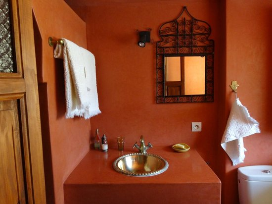 Riad Euphorbe : Salle d'eau chambre Fleur de Cactus
