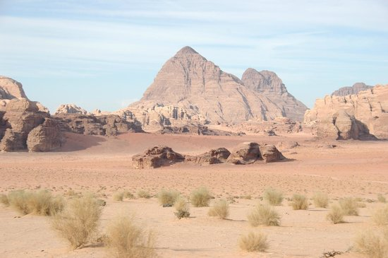 Jordan Tracks - Bedouin Camp: View from the vehicle