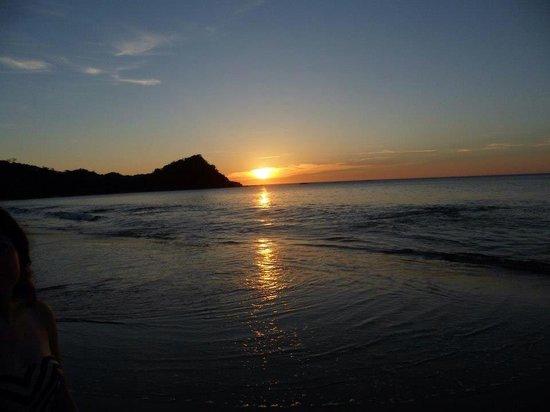 Playa Rajada: Hermoso atardecer