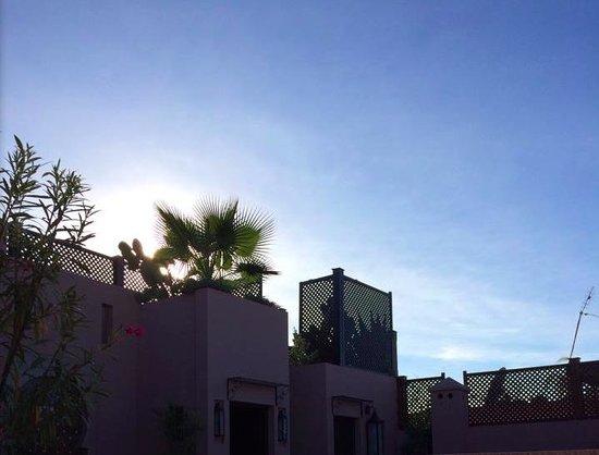 Riad Pourpre Médina: vue d'une terrasse