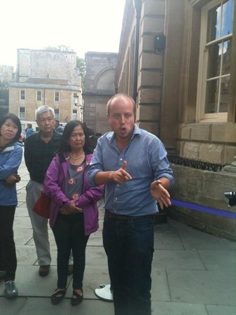 The English Bus: Chris in Bath sharing fascinating history