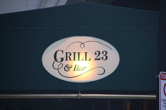 Grill 23 & Bar: Grill 23 - Boston