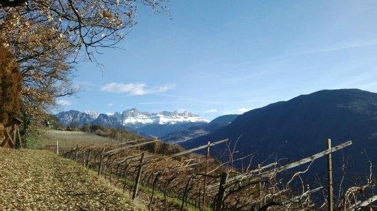 Patscheiderhof : panorama dalla stube settecentesca