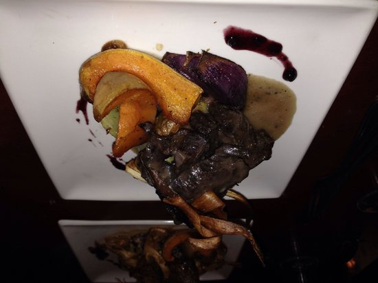 Salmon n' Bannock: Elk with squash and potatoes
