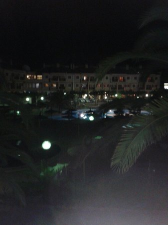 Albir Garden Resort: View from room at night