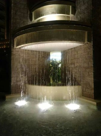 Embassy Suites by Hilton Orlando International Drive Jamaican Court: Fountain by the elevator.