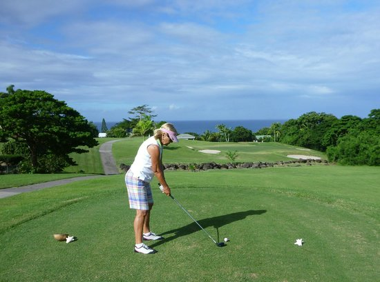 Four Seasons Resort Nevis, West Indies : Wonderful view off the 12th tee