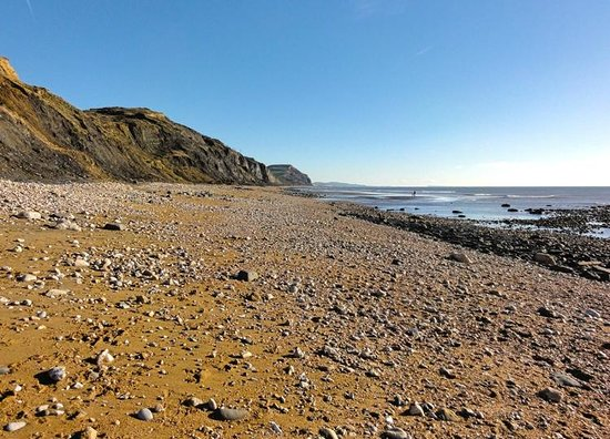 Charmouth Heritage Coast Centre: Beach in December