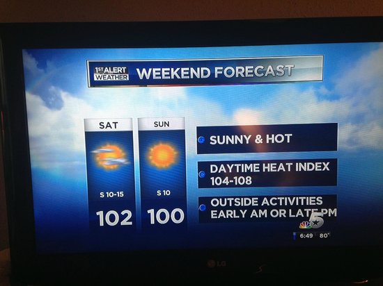 Doubletree by Hilton Dallas Market Center: Warning:   It can be very warm in Dallas.   Check the weather!