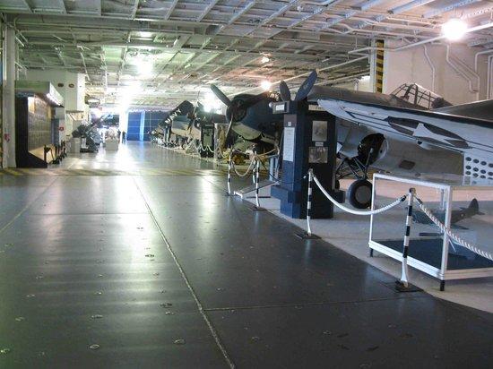 Patriots Point Naval & Maritime Museum: Hangar Deck, Yorktown