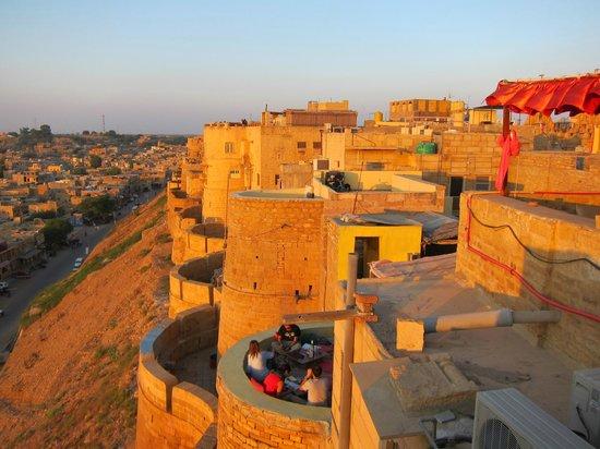 Jaisal Castle : Balcony view looking back over Castle
