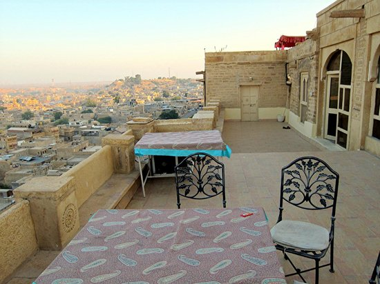 Jaisal Castle: View from rooftop balcony.