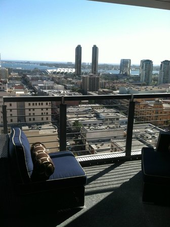 view from balcony 2 picture of kimpton hotel palomar san. Black Bedroom Furniture Sets. Home Design Ideas