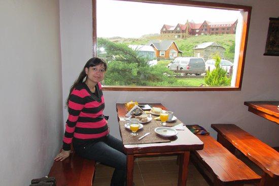 Kalenshen: Linda vista mientras desayunamos