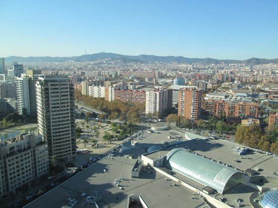 Hilton Diagonal Mar Barcelona: View from room