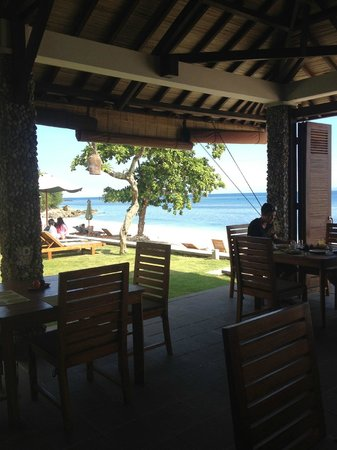 Cocotinos Sekotong, Boutique Beach Resort & Spa: view from breakfast