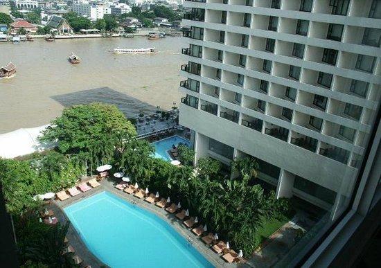 Mandarin Oriental, Bangkok: View from Garden Wing in 2008