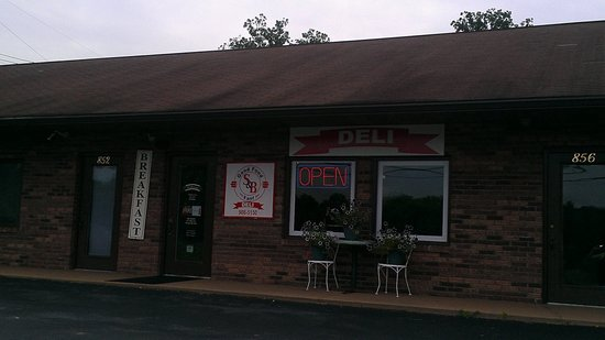 S & B Deli: The front of the deli