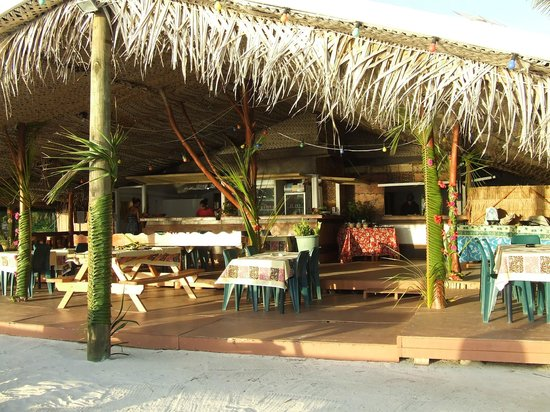 Aitutaki Village: Restaurant and Bar area - about to be renovated