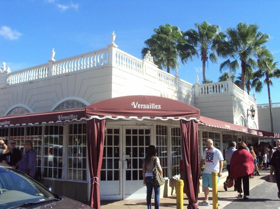 outside picture of versailles restaurant miami tripadvisor. Black Bedroom Furniture Sets. Home Design Ideas