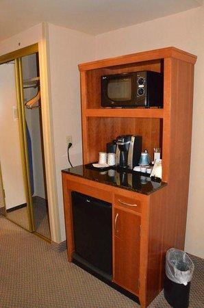 Hilton Garden Inn Fredericksburg: Fridge, microwave