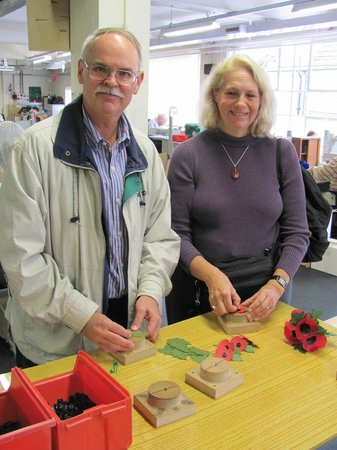 The Poppy Factory: Assembling some poppies