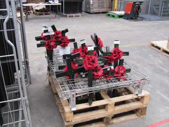The Poppy Factory: Crosses used at Westminster Abbey on Nov. 11