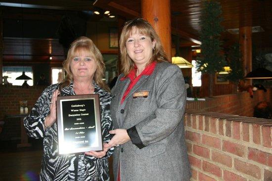 Kingwood Inn: Christmas Lights 2012 Award presented by City Of Gatlinburg