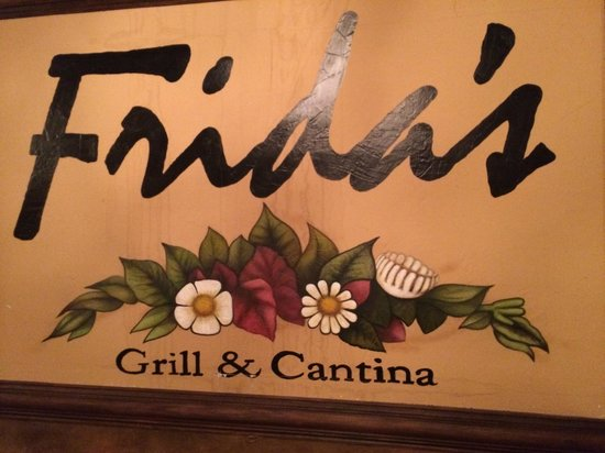 Fridas Grill and Cantina: 209 South 17th  McAllen Texas.  Parking was easy.