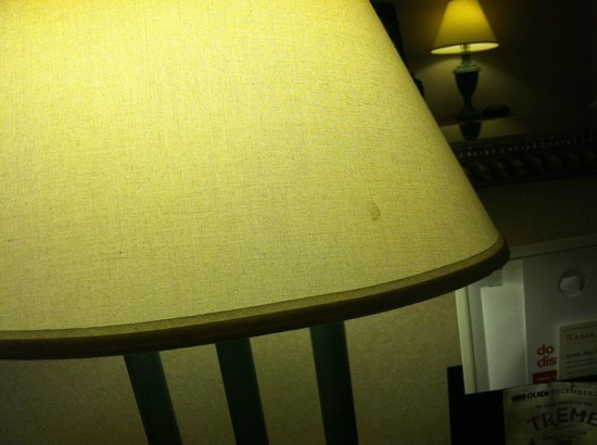Ramada Hotel & Suites Warner Robins : Dirty and broken lamp